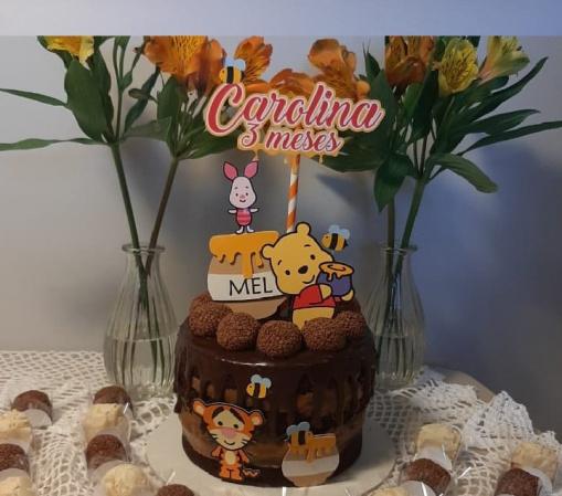 Topo de bolo Ursinho Pooh-Topo de bolo Ursinho Pooh  Fazemos todos os temas  Na hora do seu pedido informe os dados para p