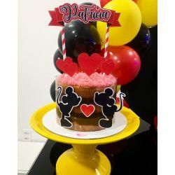 Topo de bolo Dia dos namorados - Mickey e Minnie
