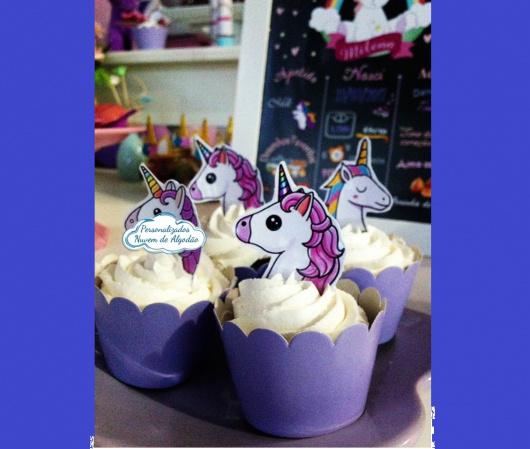 Topper de cupcake Unicórnio-Topper de cupcake Unicórnio Fazemos todos os temas    Na hora do seu pedido informe os dados par