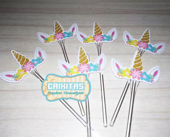 Topper de cupcake Unicórnio chifre-Topper de cupcake Unicórnio chifre Fazemos todos os temas    Na hora do seu pedido informe os da