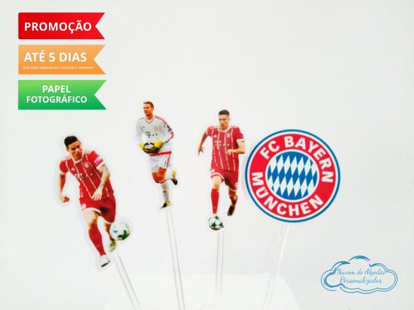 Topper de docinho Bayern Munchen-Topper de docinho Bayern Munchen  Fazemos todos os temas    Na hora do seu pedido informe os dado