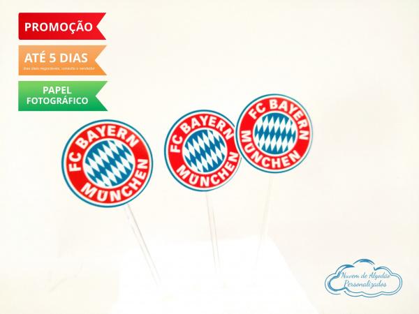 Topper de docinho Bayern Munchen - Símbolo-Topper de docinho Bayern Munchen - Símbolo  Fazemos todos os temas    Na hora do seu pedido info