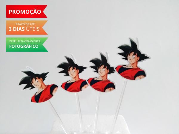 Topper de docinho Dragon Ball - goku-Topper de docinho Dragon Ball - goku Fazemos todos os temas    Na hora do seu pedido informe os d