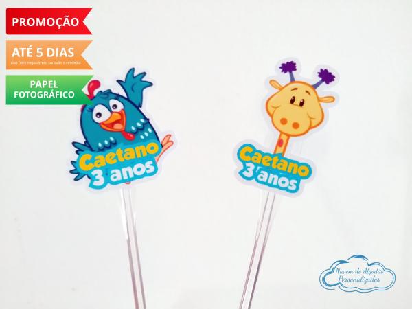 Topper de docinho Galinha Pintadinha - Girafa-Topper de docinho Galinha Pintadinha - Girafa Fazemos todos os temas    Na hora do seu pedido inf