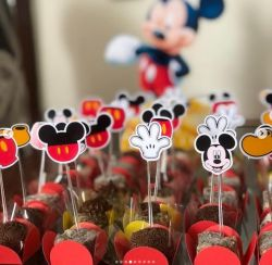 Topper de docinho Mickey