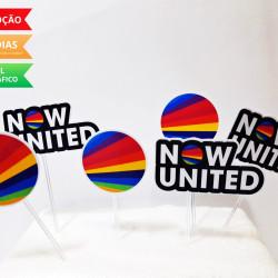 Topper de docinho Now united
