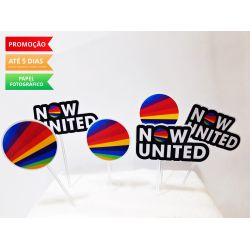 Topper de docinho Now united