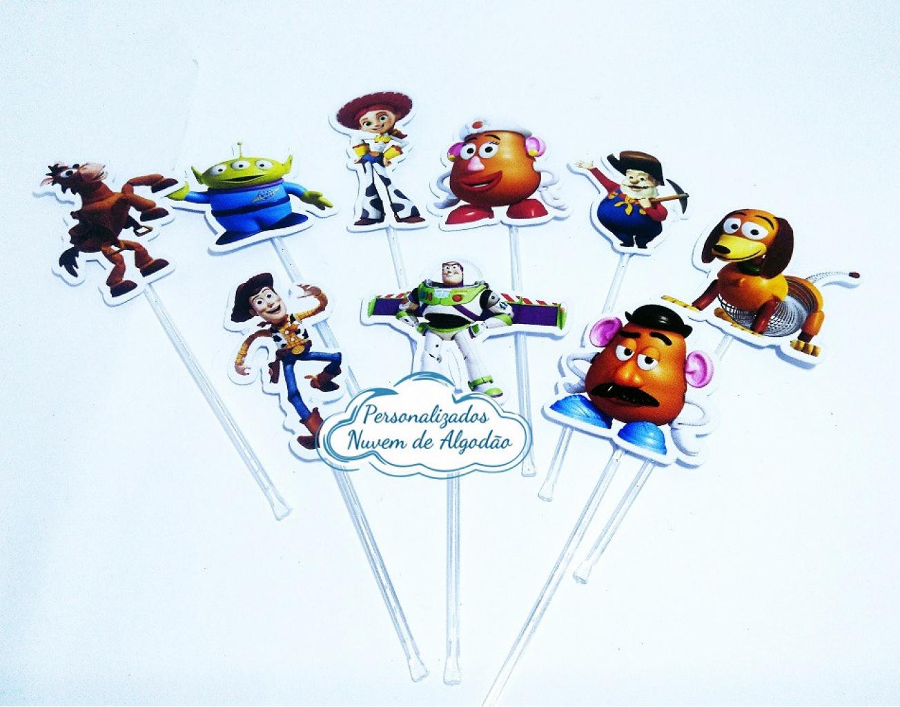 Nuvem de algodão personalizados - Topper de docinho Toy Story