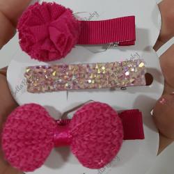 Trio hair clips 5 cm