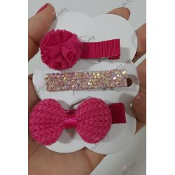 Trio hair clips 5 cm